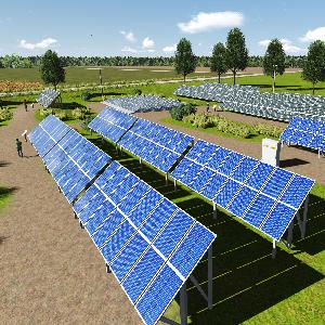 Solar panel park