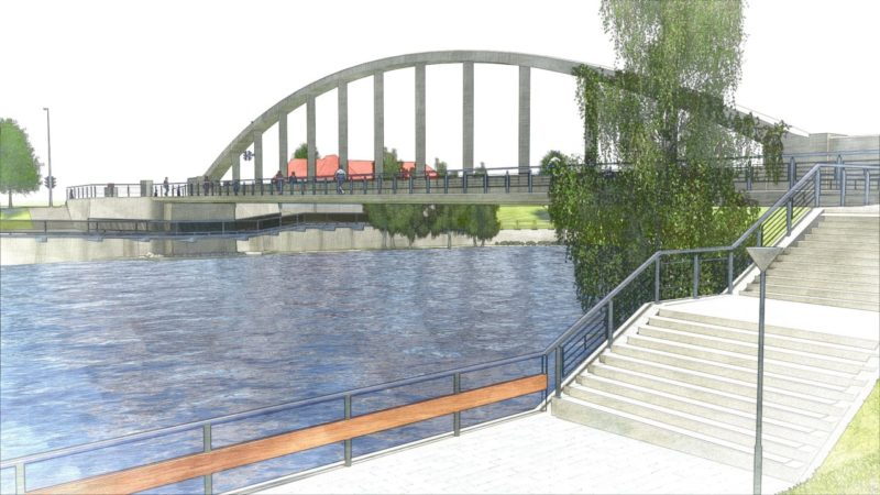 Tartu archbridge reconstruction