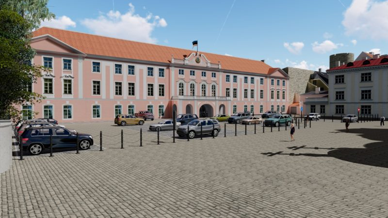 Estonian Parlament parking and entrance project