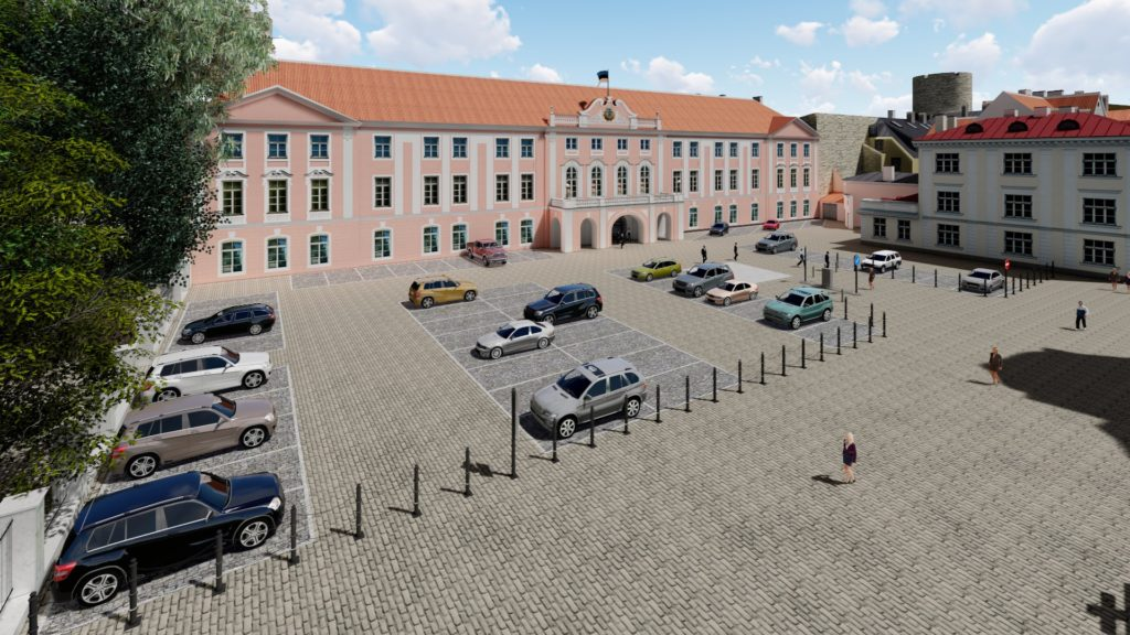 Estonian Parlament parking and entrance project