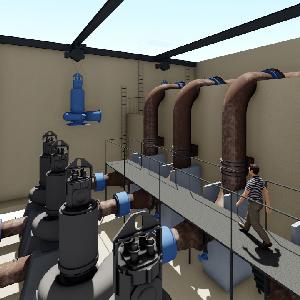 Underground pumping-station