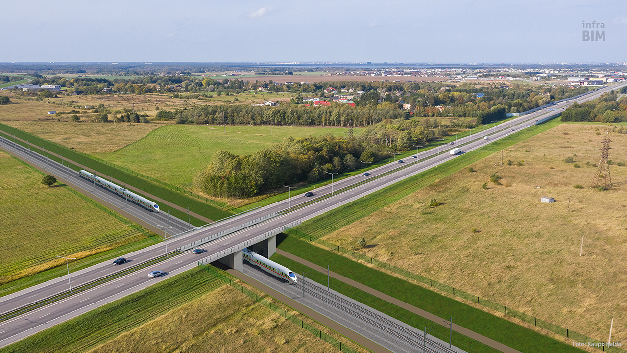 Rail Baltica – under Tallinn-Tartu Motorway